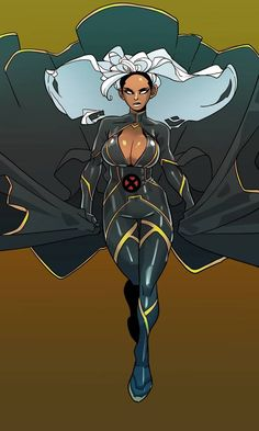 Storm-Ororo Monroe by on DeviantArt Black Cartoon Characters, Comic Book Characters, Marvel Characters, Comic Books Art, Comic Art, Marvel Women, Marvel Girls, Comics Girls, Dc Comics Women