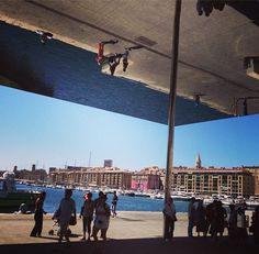 #NormanFoster L'Ombriere mirrored over...#marseille #vieuxport #architecture #France #setmeflee #travel