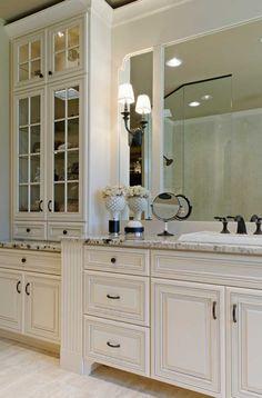 Bathroom:Bathroom Elegant With Footed Traditional Glass Mirror Luxury Design Decoration Bathroom Floor Other Ideas Bright
