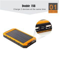 Hoco Waterproof Solar Power Bank 10000mah