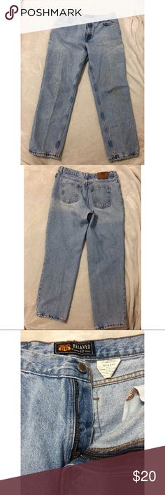 """Vintage Route 66 High Waisted Jeans Super high waisted vintage jeans. In a light wash denim. Great to turn into shorts as well.  Jeans go over my belly button.  I wear a size 6 in old Navy and these fit me a little loose.  Quality of jeans is similar to vtg Levi's.  Please refer to the below measurements. Size - 11/12  Rise 12""""  Cuff 7""""  Inseam 29"""" Leg 38"""" Route 66 Jeans"""