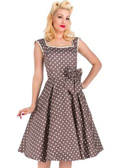 Mocha Polka Dot Annabella, 50's dress by Lady Vintage  http://www.misswindyshop.com