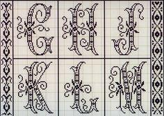 Милые сердцу штучки: рукоделие, декор и многое другое: Вышивка крестом: Алфавит из французского альбома XIX века (10)