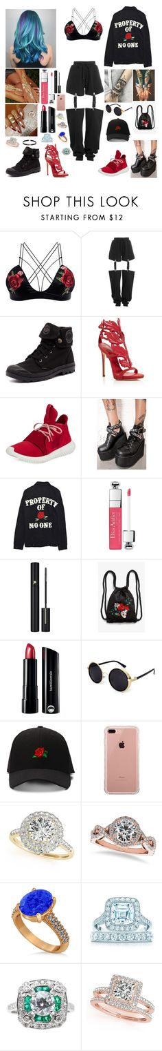 """Young fashion # 249"" by demacracy ❤ liked on Polyvore featuring Puma, Palladium, Giuseppe Zanotti, adidas, Demonia, High Heels Suicide, Christian Dior, Lancôme, Monki and Bare Escentuals"