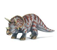 """Triceratops de tamaño pequeño de la marca Schleich. Ideal para el entretenimiento de cualquier niño que quiera pasar un buen rato entre dinosaurios. Completa tu propio """"Parque Jurásico"""" con los demás dinosaurios de http://www.tododinosaurios.com/  Alto: 7 cm Largo: 13 cm  Edad: a partir de 3 años Marca: Schleich Ref. 30045 Precio: 8.00 € IVA incluido"""