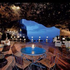 Puglia, Italy's cave restaurant ♥