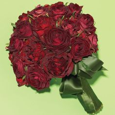 Deep red roses are always a great choice for a classic bride!