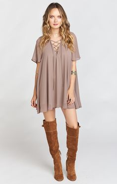 Rancho Vista Tunic Dress ~ Dune Chiffon
