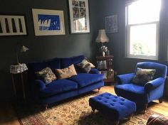 Interior Design Inspiration - using Linwood's Omega velvets to create a beautiful homely living space. Featured here is Multiyork's stunning Gosfield sofa, Greenwich armchair and global footstool. Thank you @viewfrom_mywindow for sharing this sneak peek of your home with us!