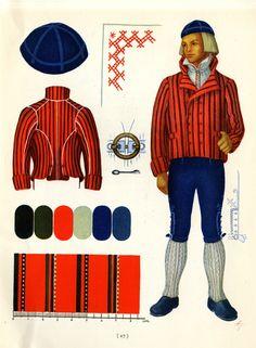 Hämeen man's suit taken from Suomalaisia Kansallispukuja [Finnish National…