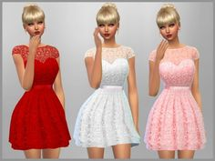 The Sims Resource: Emma Dress by SweetDreamsZzzzz • Sims 4 Downloads