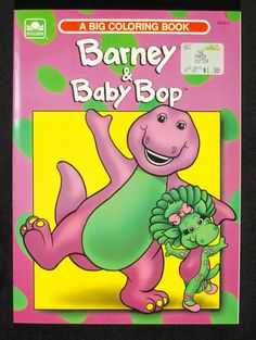 Barney & Baby Bop  coloring book Activity Games, Activities, Online Collections, 90s Kids, National Museum, Winnie The Pooh, Growing Up, Coloring Books, Nostalgia