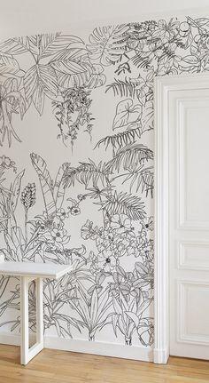 floral seamless avec des fleurs diff rentes noir et blanc en 2018 dessin pinterest dessin. Black Bedroom Furniture Sets. Home Design Ideas