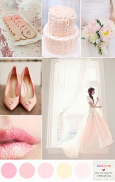 Read more for valentine's day wedding ideas. romantic pink wedding color palette,romantic blush pink wedding theme ideas