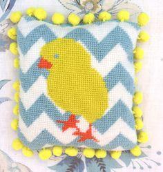 Eggy mini needlepoint at www.madinengland.com