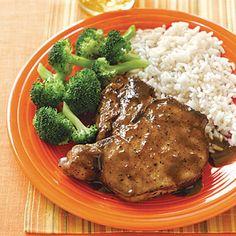 Honey-Soy Pork Chops #recipe
