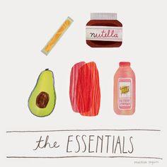 illustrated by @marisamidori seen on vlinspiratie.blogspot.com   #illustration #food