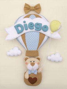 Baby Crafts, Felt Crafts, Diy And Crafts, Baby Shawer, Felt Baby, Felt Name Banner, Diy Bebe, Felt Wreath, Felt Decorations