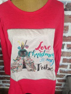 Christmas With My Tribe Red Sweater