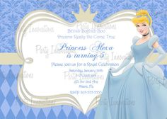Cinderella Printable Birthday Party by PartyInnovations09 on Etsy, $8.00