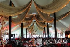 Eventure Design - corporate events | weddings | backdrops | ceiling canopies | mahitza & chuppa | room & wall liners | specialty draping | tent liners & draping