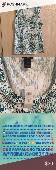 Ann Taylor Printed Tank 🔹Ann Taylor Printed Tank.  NWT.  Measurements are estimates. Ann Taylor Tops Tank Tops