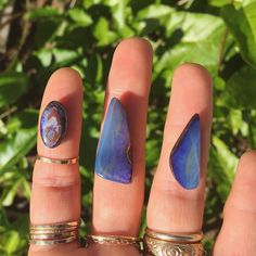 Boulder opal options for a custom ring. If you like this stone combined with sea glass & want to get your hands on a pendant necklace for a special price stay tuned... #boulderopal #customring #handmadejewelry #staytuned #summerlovejewelry