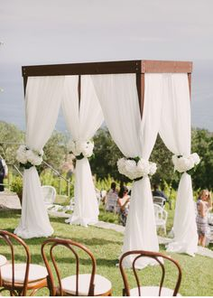 135 fantastic outdoor wedding decoration ideas page 25 Wedding Pergola, Wedding Ceremony Arch, Wedding Vows, Wedding Venues, Dream Wedding, Wedding Columns, Chic Wedding, Gold Wedding, Altar Decorations