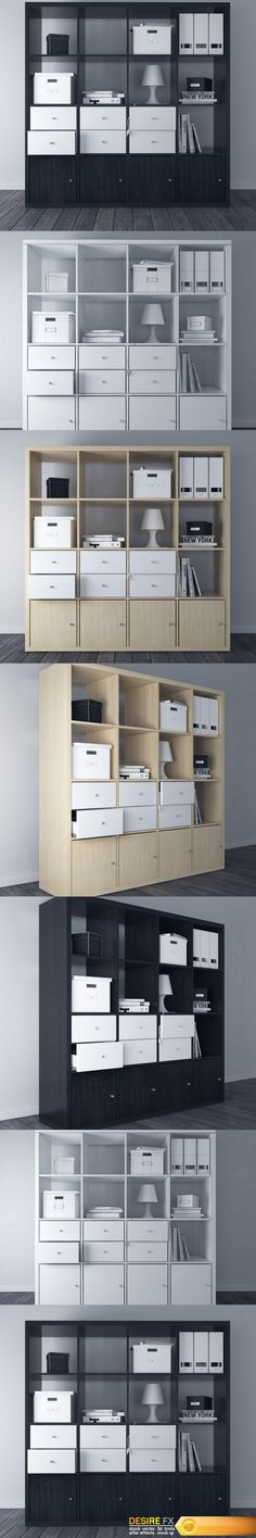 Find your Grapfix Desire With US Kallax, Birch, Black And Brown, Shelving, New Homes, 3d, Model, House, Inspiration