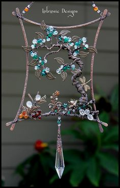 Tree Of Life by Cathy Heery Beautiful! Wire Wrapped Jewelry, Wire Jewelry, Jewelery, Wire Earrings, Beaded Jewelry, Handmade Jewelry, Wire Crafts, Jewelry Crafts, Sun Catchers