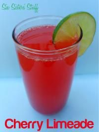 Six Sisters Sonic's Copycat Cherry Limeade Drink. A refreshing drink to welcome spring!