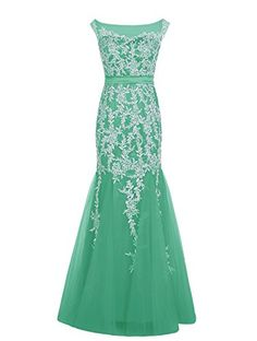 Dressystar Long Bridesmaid Chiffon Prom Dresses Scoop Evening Gowns with Appliques