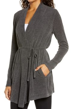 Barefoot Dreams® CozyChic Ultra Lite™ Cardigan   Nordstrom Lounge Outfit, Lounge Wear, Barefoot Dreams Cardigan, 1 Day Only, Wrap Dress, Nordstrom Anniversary Sale, Long A Line, Put On, Chic Outfits