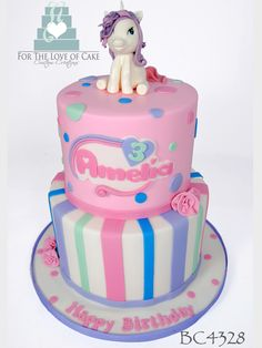 """BC4328 My Little Pony Birthday Cake<a href=""""mailto:info@fortheloveofcake.ca?subject=Cake Code: BC4328""""><span>Inquire About This Cake!</span></a>"""
