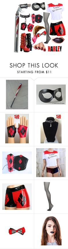 Harley quinn cosplay by amy-batman-cooper on Polyvore featuring Topshop, Masquerade and Lime Crime