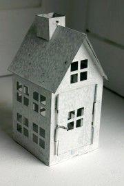 Metalen huisje wit #little houses