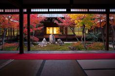 Momiji - autumn leaves (Kennin-ji temple, Kyoto) by Marser Japanese Home Design, Japanese Home Decor, Japanese Modern, Japanese Landscape, Japanese Interior, Japanese Architecture, Japanese House, Japanese Gardens, Japanese Mansion