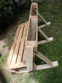 Contruction d\\'un banc de jardin Le Wiki du bricoleur   Le coin des bricoleurs - Votre communauté