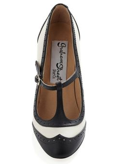Specialty Sweets Heel in Licorice, #ModCloth These would be perfect for swing dancing!