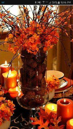 10 Easy Inexpensive Thanksgiving Table Decorations Centerpieces Your Best Diy Projects Pinterest And