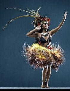 Tahitian dancer.
