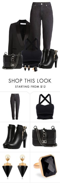 """Rock´n´Fashion Star."" by tuomoon ❤ liked on Polyvore featuring Valentino, Vita Fede, Ringly, black, rock and allblack"