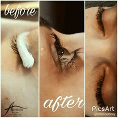 Lash perm done by Courtney at Amici's Kelowna! Getting a lash perm means your lashes will be consistent and beautifully curled for 3-6 weeks, no lash curler necessary!