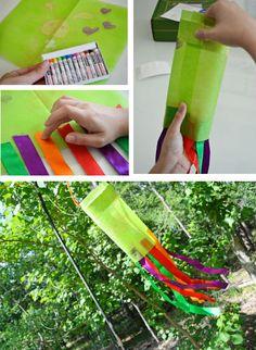 DIY windsock for kids