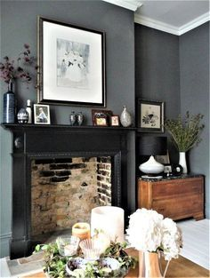30 Wonderful Photo of Lounge Living Room . Lounge Living Room Dark Grey Walls Victorian Terrace Lounge Bestrooms In 2018 Living Room Color, Interior, Living Room With Fireplace, Home Decor, Dark Grey Living Room, Living Room Grey, Interior Design, Living Decor, Victorian Living Room
