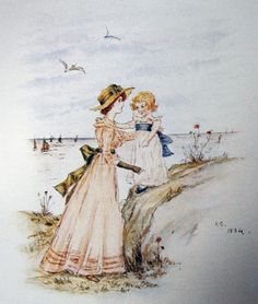 Kate Greenway depicts a Scene from Cromer