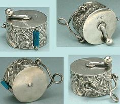 Antique-English-Sterling-Silver-Chatelaine-Tape-Measure-Hallmarked-1890