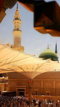Muslim World Photos: A very beautiful view of Masjid An-Nabawi, Madinah. Islamic Images, Islamic Pictures, Islamic Art, Al Masjid An Nabawi, Masjid Al Haram, Ancient Mexican Civilizations, Medina Mosque, Pilgrimage To Mecca, Moslem