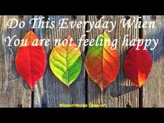 Do This Everyday When You are not feeling happy
