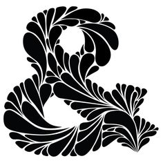 Black and White Paisley Ampersand Art Print by Willetto | Society6